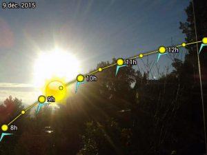 Expertise géobiologique d'un terrain : course solaire