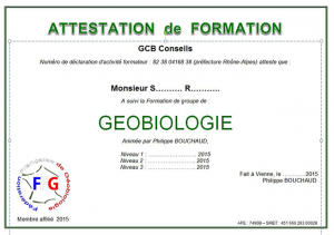 Formation géobiologie en groupe : attestation de stage
