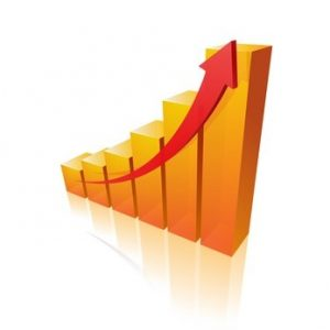 commerces : graphique progression
